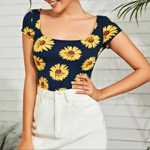 Sunflower Fitted Top